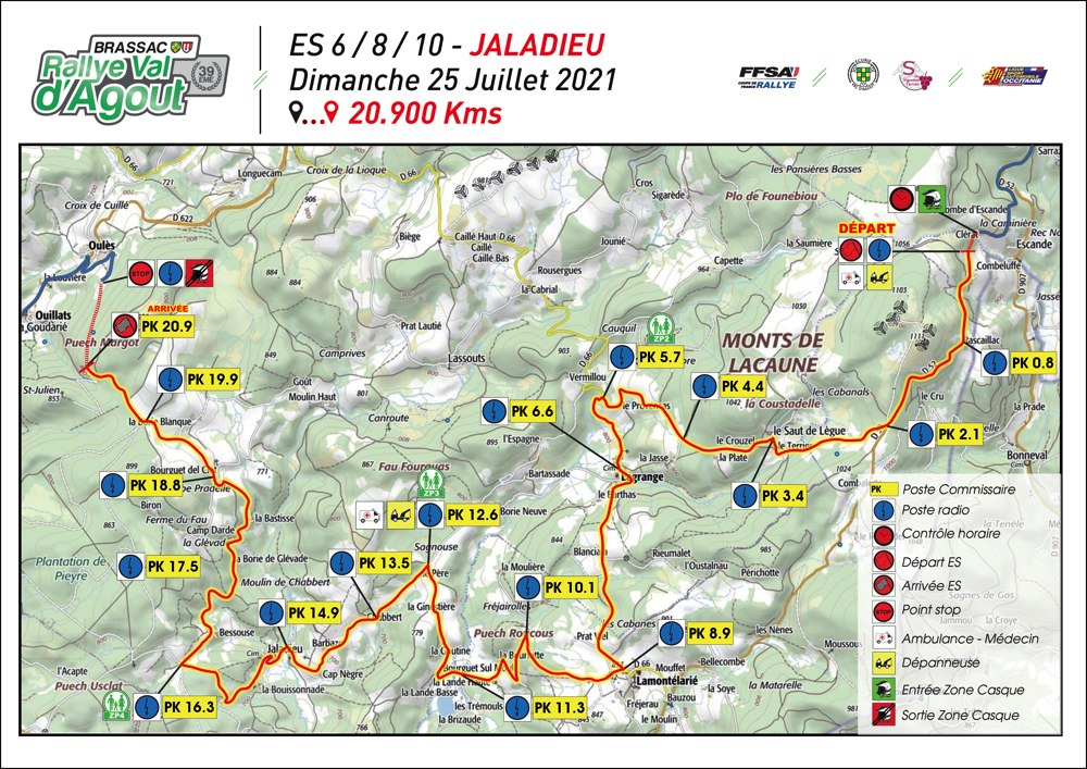 carte ES6 Jaladieu Rallye Val d'Agout 2021
