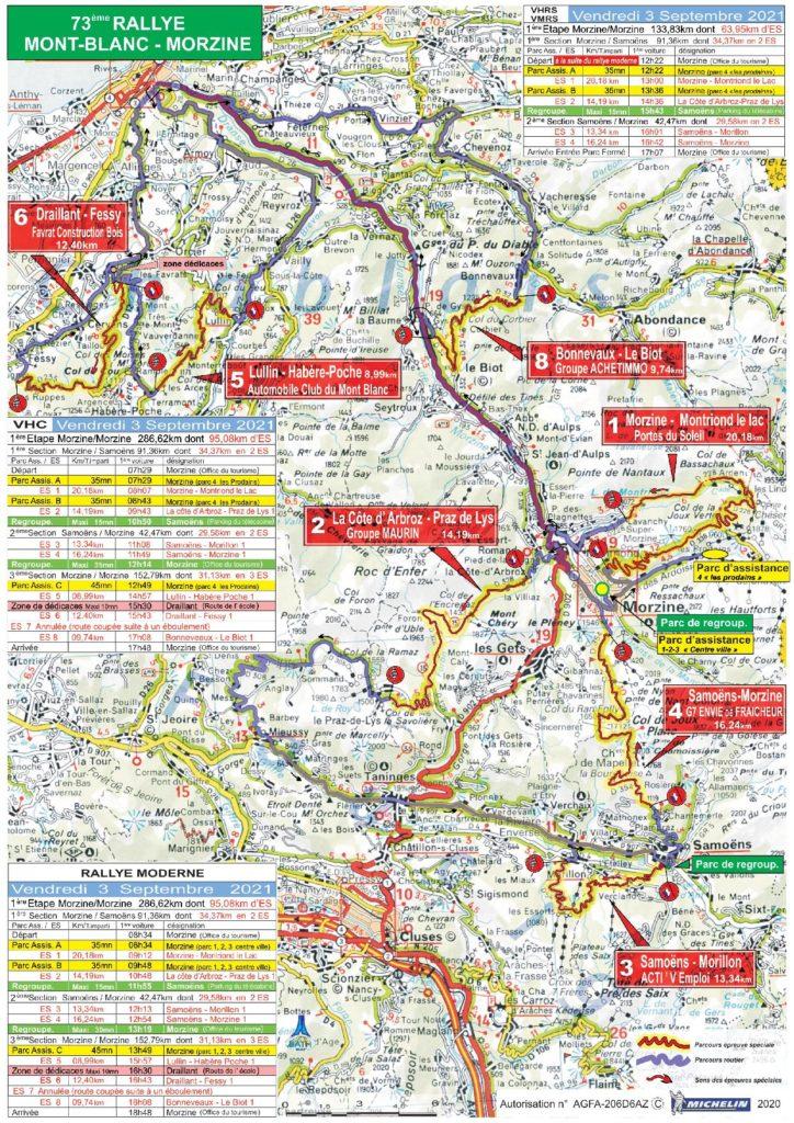 Carte Rallye Mont-Blanc 2021