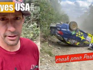 Pastrana se crash au New England Forest Rally